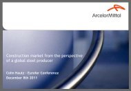Construction market from the perspective of a global steel ... - Eurofer