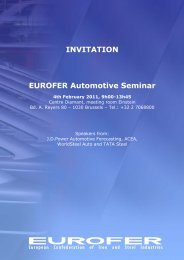 INVITATION EUROFER Automotive Seminar