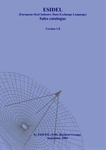 Sales catalogue - Eurofer