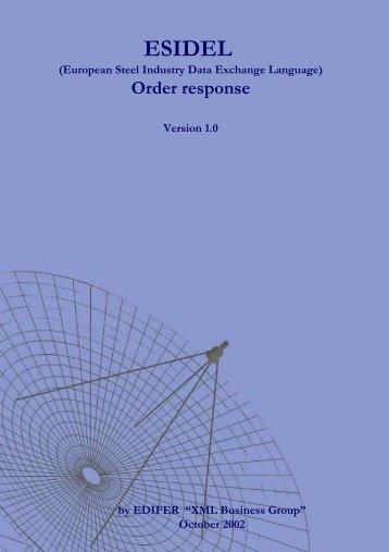 Order response - Eurofer
