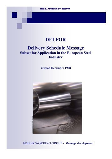 DELFOR Delivery Schedule Message - Eurofer