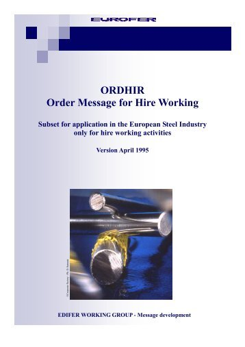 ORDHIR Order Message for Hire Working - Eurofer