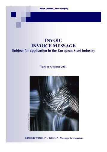 INVOIC INVOICE MESSAGE - Eurofer