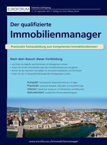 Der qualifizierte Immobilienmanager - Euroforum