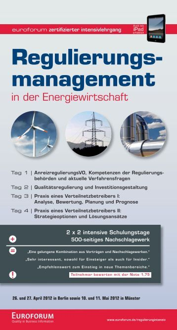 Regulierungs- management - Euroforum