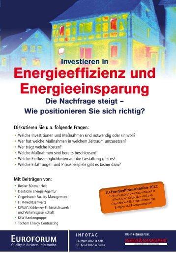 Energieeffizienz und Energieeinsparung - Euroforum