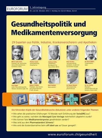 Gesundheitspolitik und Medikamentenversorgung - Euroforum
