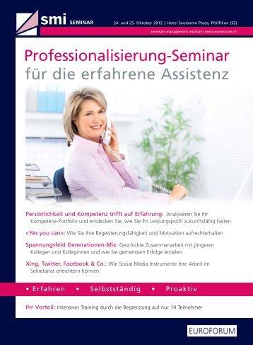 Professionalisierung-Seminar für die erfahrene Assistenz - Euroforum