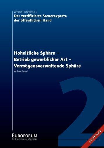 Hoheitliche Sphäre – Betrieb gewerblicher Art ...
