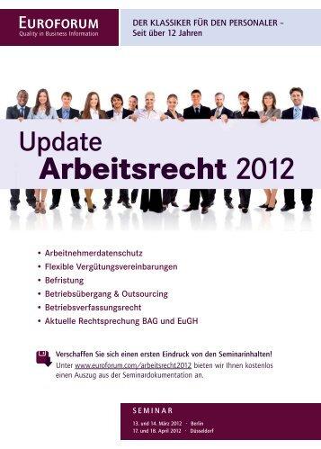 Arbeitsrecht 2012 - Euroforum