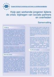 Hulp aan werkende jongeren tijdens de crisis: bijdragen van sociale ...