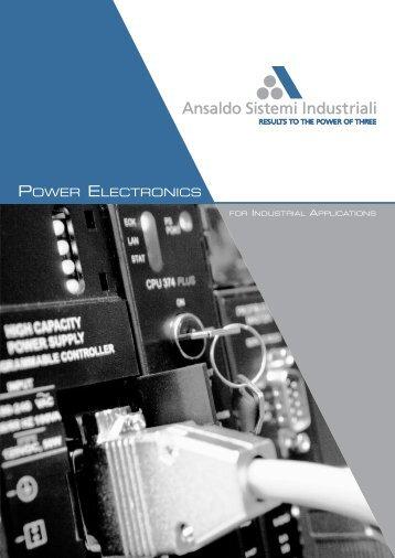 Brochure Power Electronics - Ansaldo Sistemi Industriali