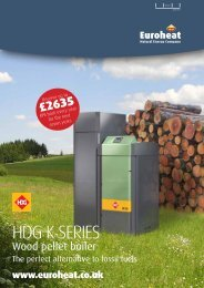 HDG K Series Pellet Boiler is designed as the perfect ... - Euroheat