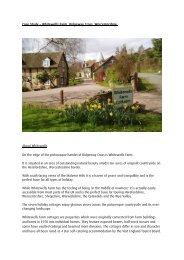 Whitewells Farm Cottages - Euroheat