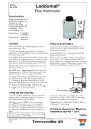 Flue thermostat - Ecoangus