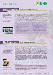 Bio Boosters - General Hydroponics Europe