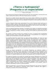 ¿Tierra o hydroponía? - General Hydroponics Europe