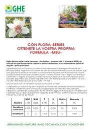 CON flOra-series OTTeNeTe la VOsTra PrOPria fOrMUla «MsU»