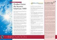 the Inverter Solargate 5000 - Ansaldo Sistemi Industriali
