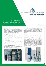 Technical Data Sheet - Hydro VFD - Ansaldo Sistemi Industriali