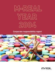 M-real Corporate responsibility report 2004 - Euroland