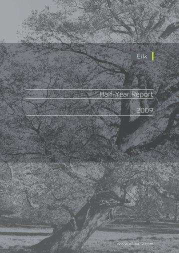 Half-Year Report 2009 - Euroland