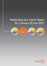 Pohjola Bank plc's Interim Report for 1 January–30 June ... - Euroland