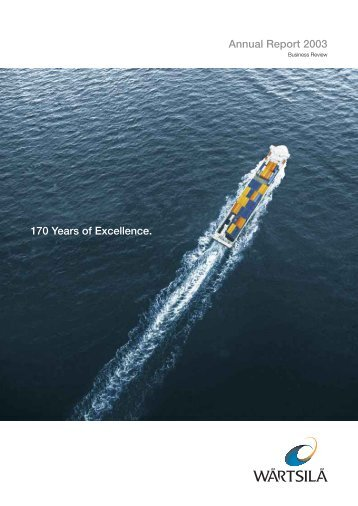 Annual Report 2003 170 Years of Excellence. - European Investor