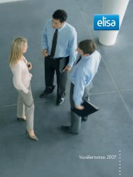Vuosikertomus 2007, pdf - Elisa Oyj