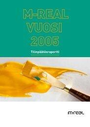 M-real vuosi 2005: Tilinpäätösraportti