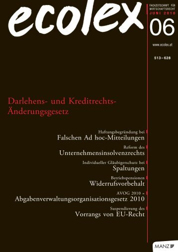 Darlehens- und Kreditrechts- Änderungsgesetz - Eurolawyer.at