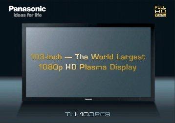 Panasonic's 103-inch 1080p HD Plasma Display - Complete IT ...