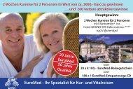 EuroMed - Ihr Spezialist für Kur- und Vitalreisen