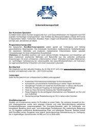 EuroMed Unternehmensprofil - Euromed Kurreisen