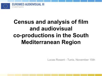 Census and analysis of film and audiovisual co-productions in the ...