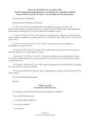 Décret n° 96-2230 du 11 novembre 1996, - Euromed Audiovisuel