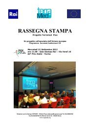 RASSEGNA STAMPA ABSTRACT - Euromed Audiovisuel