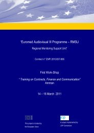"""Euromed Audiovisual III Programme – RMSU - Euromed Audiovisuel"