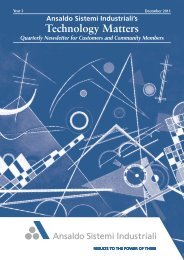 Dicembre 2011 - Technology Matters - Ansaldo Sistemi Industriali