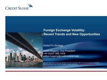 Foreign Exchange Volatility - Euromoney Conferences