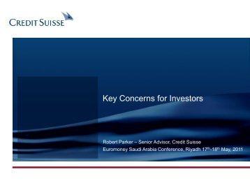 Robert Parker - Euromoney Conferences