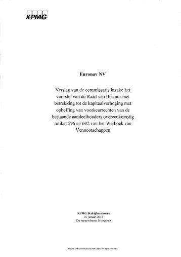 Verslag met betrekking tot de uitgifte converteerbare ... - Euronav.com