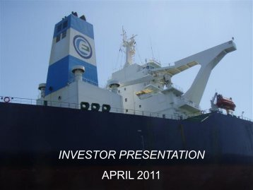 INVESTOR PRESENTATION APRIL 2011 - Euronav.com