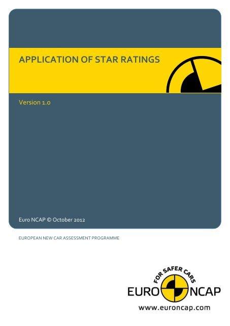 application of star ratings euro ncap yumpu