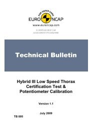 Hybrid III Chest Certification - Euro NCAP