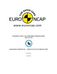 ASSESSMENT PROTOCOL – CHILD OCCUPANT ... - Euro NCAP