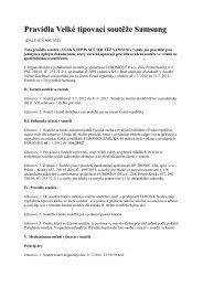Pravidla Velké tipovací soutěže Samsung - Euronics