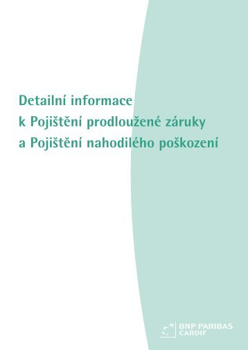 Detailní informace k Pojištění prodloužené záruky a ... - Triangl