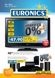 05 / 2011 kuni 31.03.2011 Hind 479.- Norm. hind 699.- - Euronics