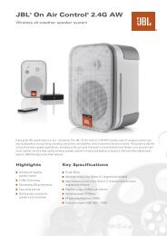 JBL® On Air Control® 2.4G AW - 3D Sound Investment